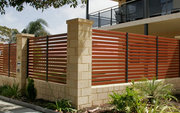 Horizontal fence installation at Albury and Wodonga